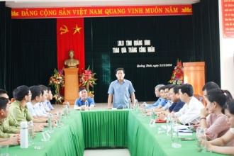 Liên đoàn Lao động tỉnh Quảng Bình thăm và tặng quà nhân dịp tháng Công nhân năm 2020
